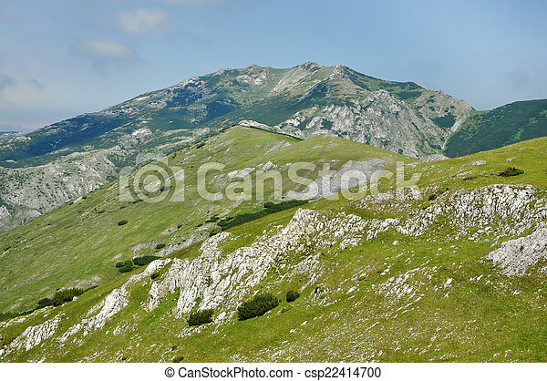 Limestone cliffs in Retezat mountain, Romania - csp22414700
