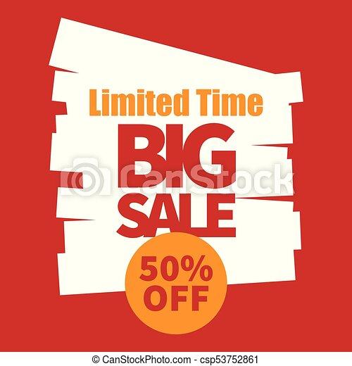 Banner limitado tiempo gran venta 50% fuera de la imagen vectorial - csp53752861