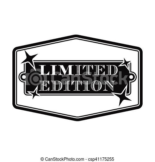 Limited Edition Icon In Black Style Isolated On White Clipart