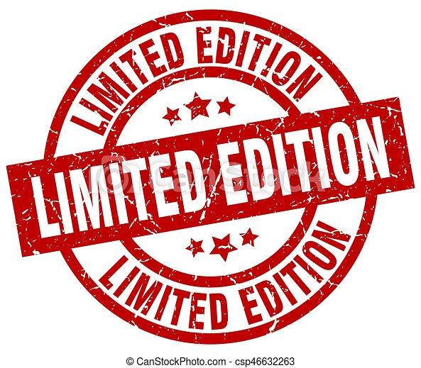 3caea22949372 limited edition round red grunge stamp - csp46632263