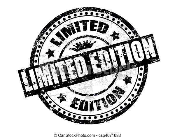 Limited Edition Stamp Abstract Grunge Office Rubber Stamp