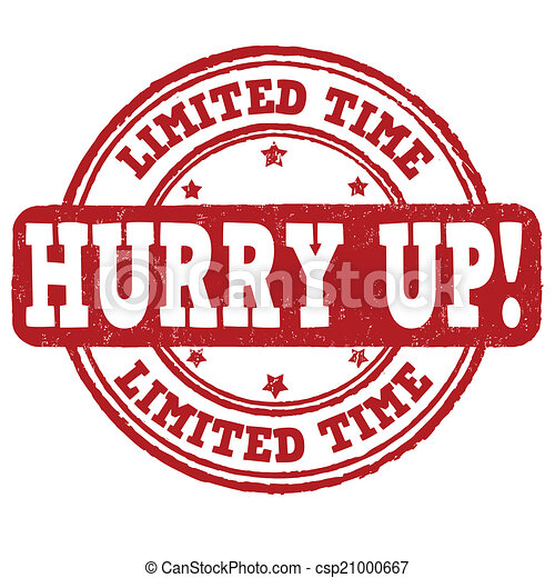 Limited time, hurry up stamp - csp21000667