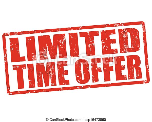 Limited time offer stamp - csp16473860