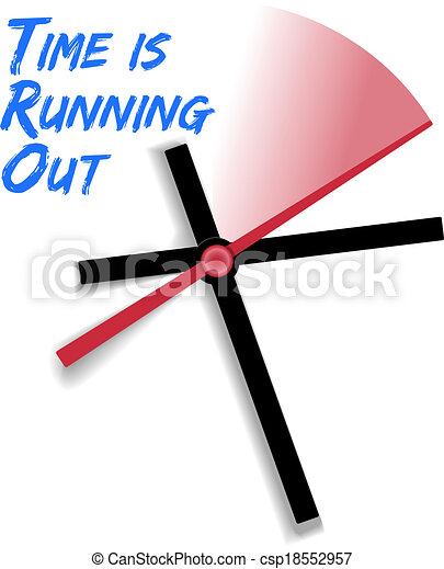 Limited time running out clock - csp18552957