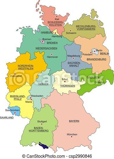Carte Allemagne Hannover.Limites Carte National Allemagne