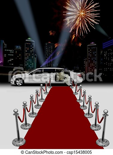 Limo red carpet stock illustration - Search Clipart ...