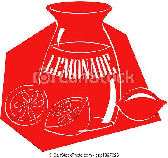 limonade, art, agrafe - csp1397026