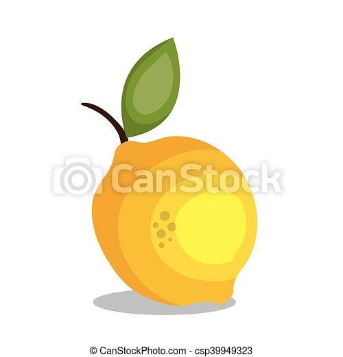 limone, frutta, disegno, icona - csp39949323