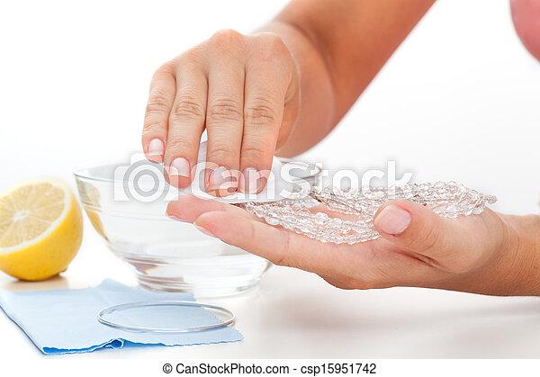 limone, metodi, jewelery, -, succo, pulizia - csp15951742