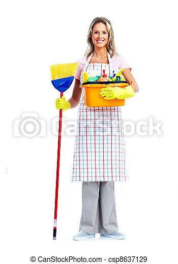 La mujer de la limpieza. - csp8637129