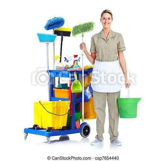 Una sirvienta más limpia. - csp7654440