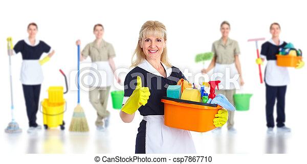 Una sirvienta más limpia. - csp7867710