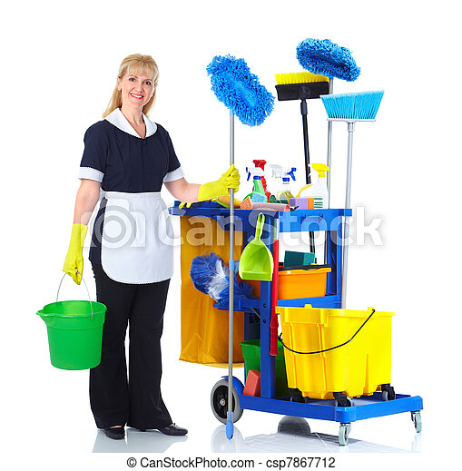 Una sirvienta más limpia. - csp7867712
