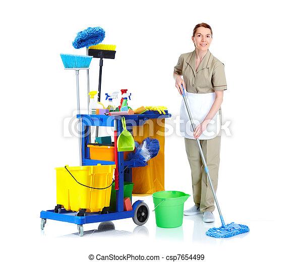 Una sirvienta más limpia. - csp7654499