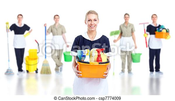 Una sirvienta más limpia. - csp7774009