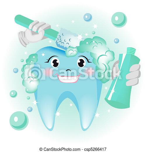 Limpieza de dientes - csp5266417