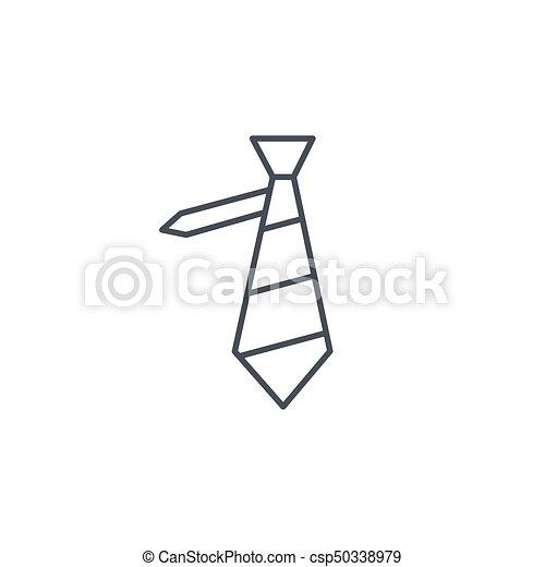 style exquis Pré-commander les dernières nouveautés linéaire, symbole, vecteur, mince, cravate, ligne, icon.
