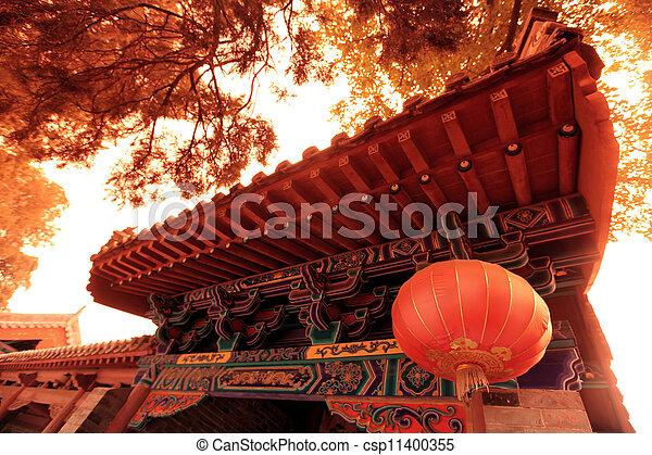 lin, china, shao, tempel - csp11400355