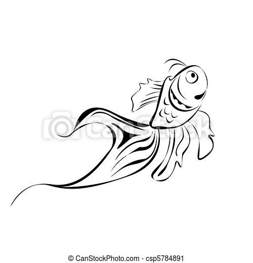 lina sztuka, fish - csp5784891