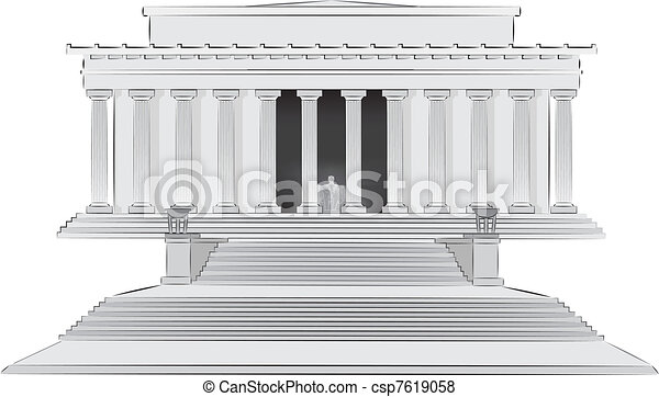 lincoln memorial building clipart. lincoln memorial illlustration csp7619058 building clipart o