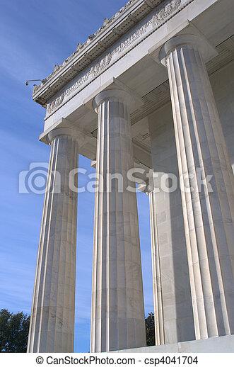 lincoln monument commémoratif - csp4041704