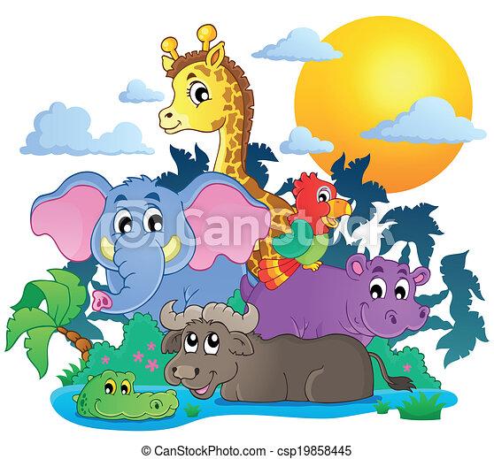 Lindos animales africanos imagen 7 - csp19858445