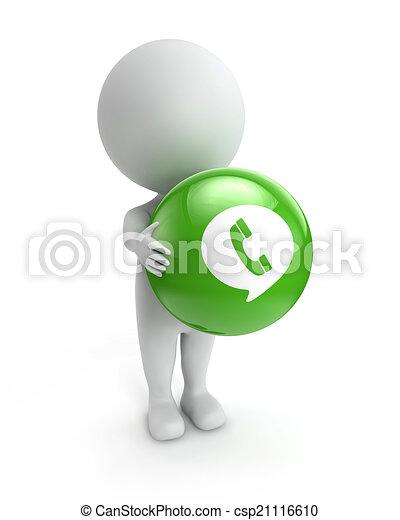 3D gente linda, aplicación de chat - csp21116610