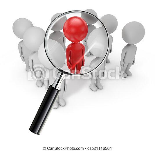 3D gente linda, búsqueda de empleados - csp21116584
