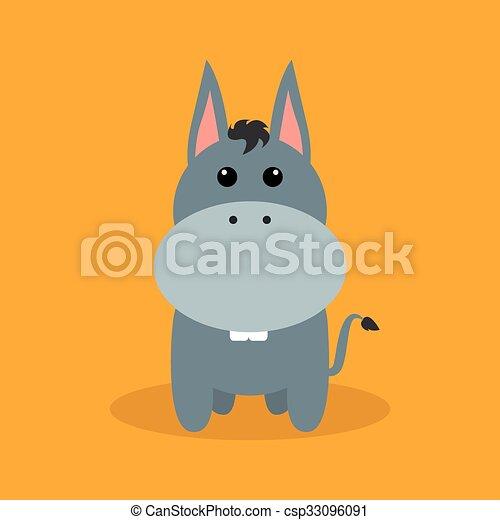 Lindo burro de dibujos animados - csp33096091