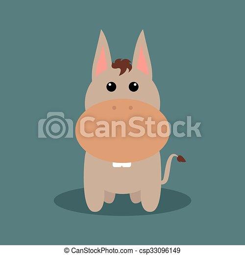 Lindo burro de dibujos animados - csp33096149