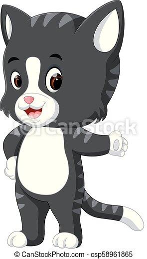 Lindo dibujo de gato - csp58961865