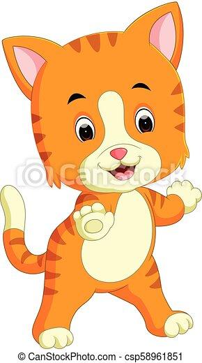 Lindo dibujo de gato - csp58961851