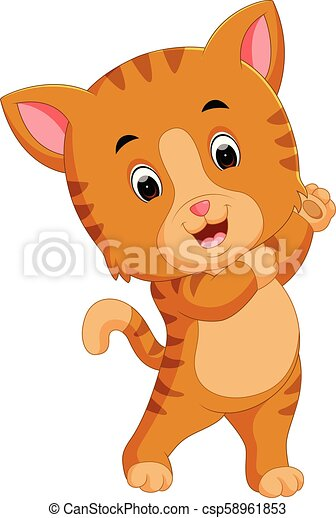 Lindo dibujo de gato - csp58961853