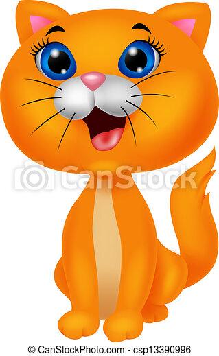 Bonita caricatura de gatos - csp13390996
