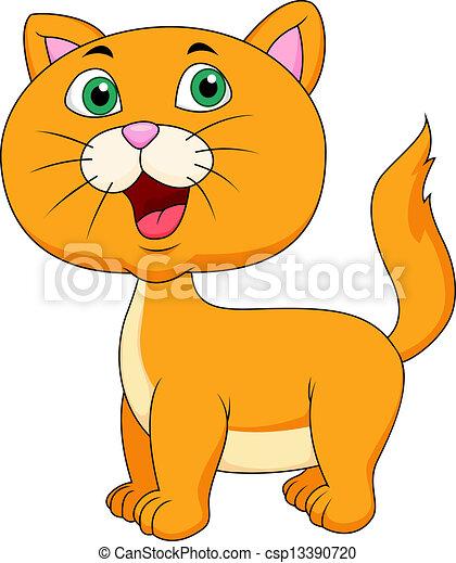 Bonita caricatura de gatos - csp13390720