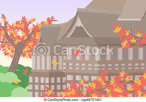 Lindo kiyomizu de dibujos animados - csp49701401
