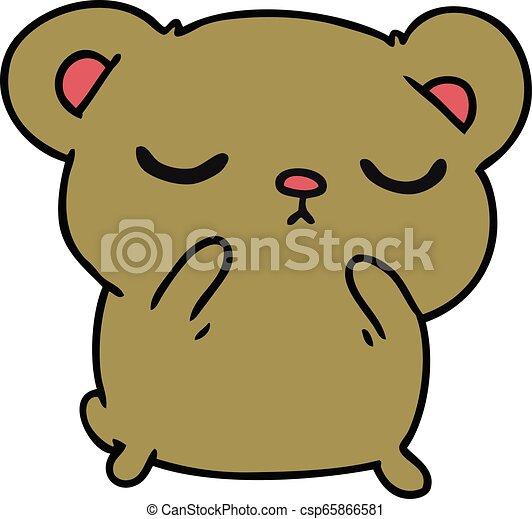 Caricatura de un oso lindo - csp65866581