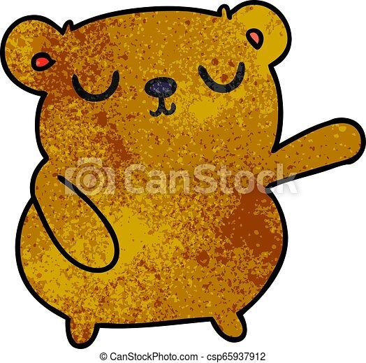 Dibujos textuales de un oso lindo - csp65937912