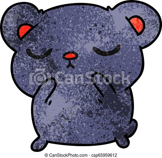 Dibujos textuales de un oso lindo - csp65959612