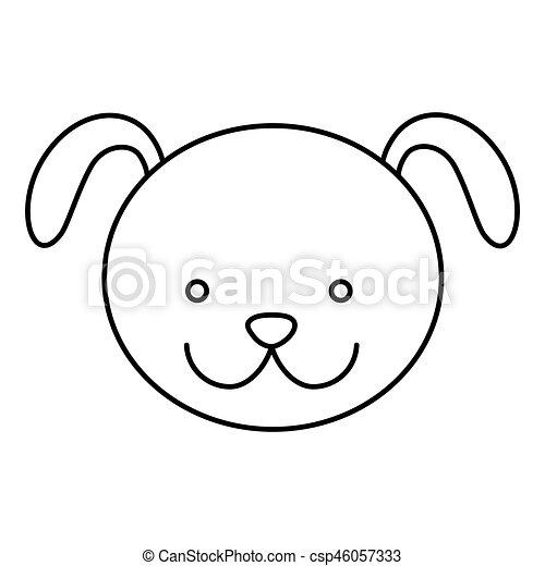 Logo Lineal Dibujos Caras De Perros Www Imagenesmy Com