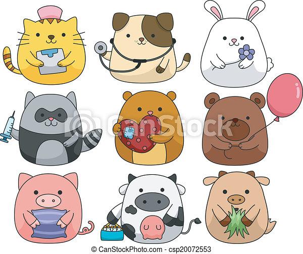 Lindo juego de animales - csp20072553