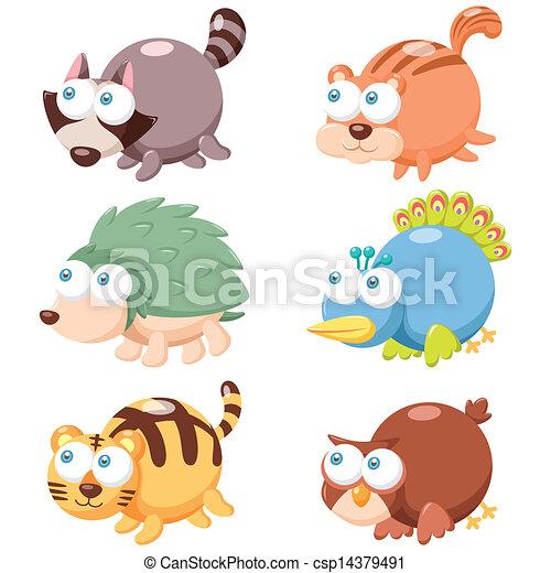 Lindo juego de animales - csp14379491