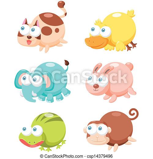 Lindo juego de animales - csp14379496