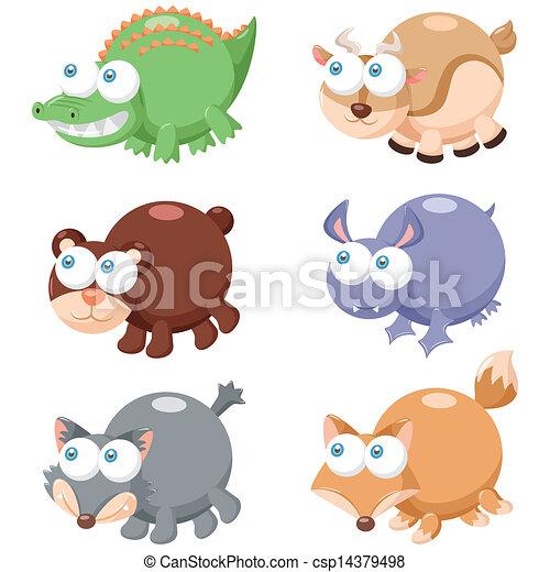 Lindo juego de animales - csp14379498