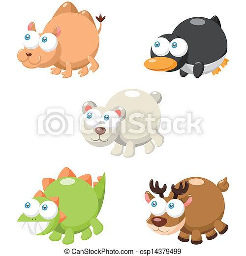 Lindo juego de animales - csp14379499
