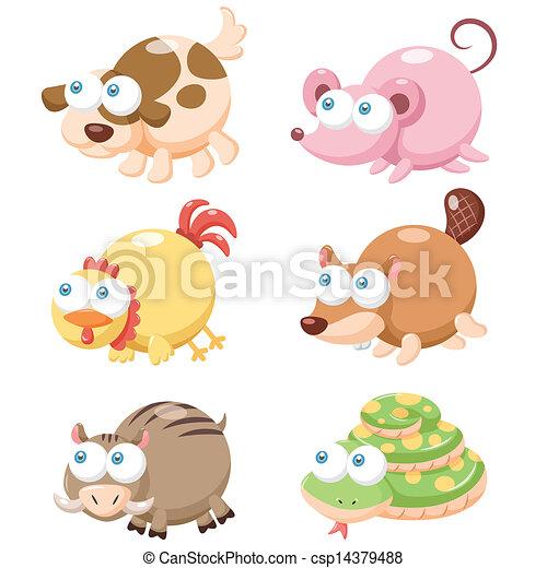 Lindo juego de animales - csp14379488