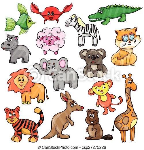 Lindo juego de animales - csp27275226