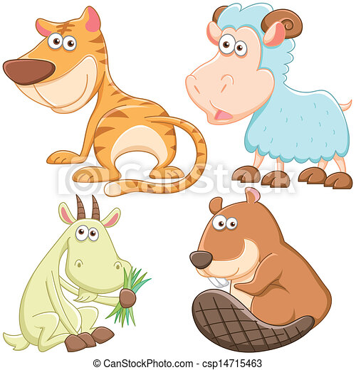 Lindos dibujos animados - csp14715463