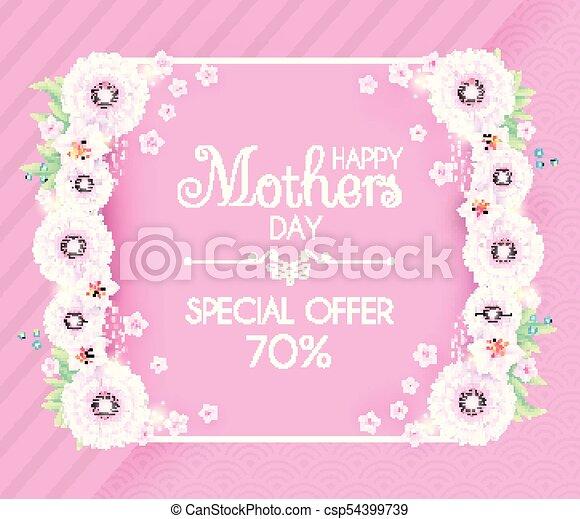 Día De Las Madres Saludos E Invitación Con Flores Suaves