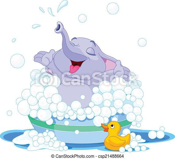 Lindo elefante - csp21488664